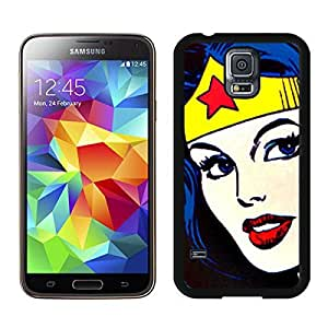 Wonder Woman Face Black Samsung Galaxy S5 Screen Cover Case Newest and Fashion Design