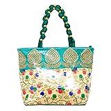 Kuber Industries™ Designer Women Stylish Handbag Fully Laminated (Traditional Design), Green