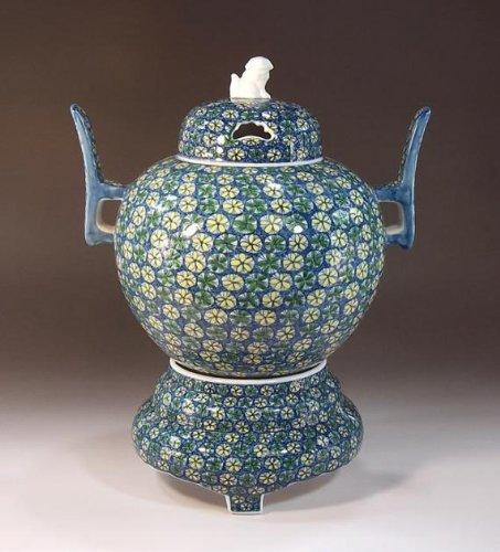 有田焼伊万里焼の陶器高級香炉|贈答品|ギフト|記念品|贈り物|小花紋様陶芸家 藤井錦彩 B00JJ8I844
