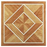 Achim Home Furnishings FTVWD20520 Nexus 12-Inch Vinyl Tile, Wood White Border Classic Inlaid Parquet, 20-Pack