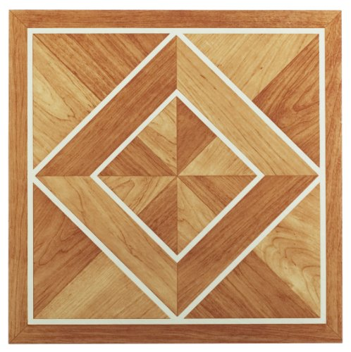 Valentine Tile (Achim Home Furnishings FTVWD20520 Nexus 12-Inch Vinyl Tile, Wood White Border Classic Inlaid Parquet, 20-Pack)