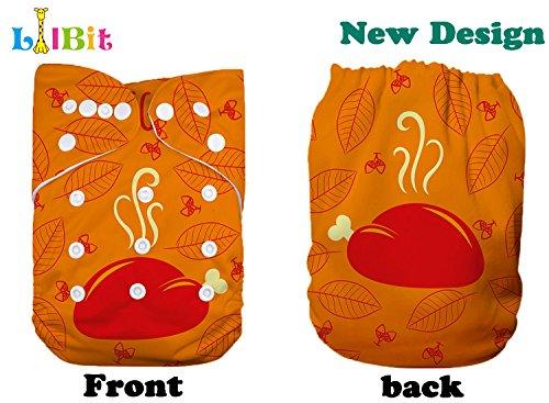 Lilbit Thanksgiving Day Print Reusable Cloth Baby Diaper (Halloween Diaper)