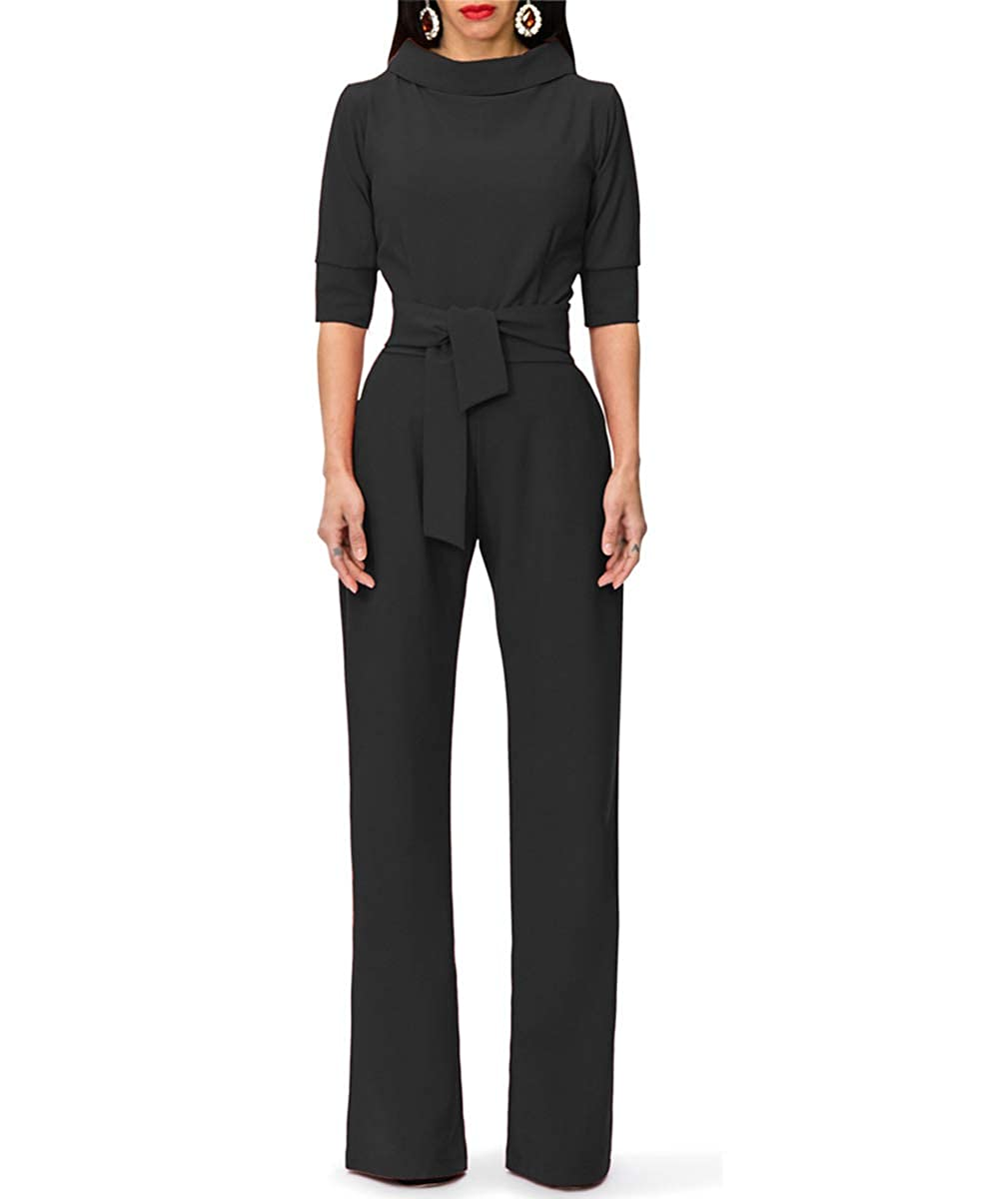 b52860784b0b This Elegent Jumpsuit has belt and a zipper on back