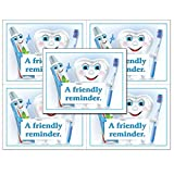 Laser Reminder Postcards, Dental Appointment Reminder Postcards. 4 Cards Perforated for Tear-Off at 4.25'' x 5.5'' on an 8.5'' x 11'' Sheet of 8 Pt Card Stock. DEN251-LZS (1000)