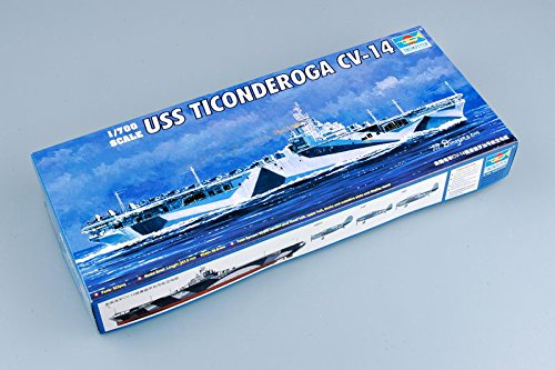 Trumpeter 1/700 USS Ticonderoga CV14 Aircraft Carrier Model Kit