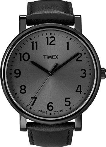 Timex Easy Reader Black Dial Stainless Steel Mens Watch T2N346
