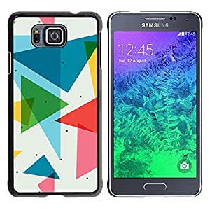 ROKK CASES / Samsung GALAXY ALPHA G850 / POLYGON TRIANGLE PATTERN / Delgado Negro Plástico caso cubierta Shell Armor Funda Case Cover