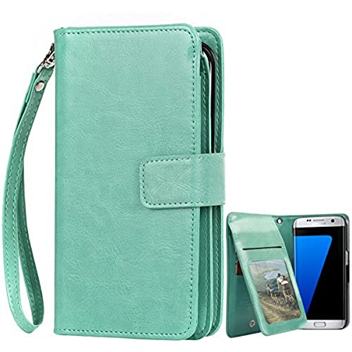 Galaxy S7 Edge Case, Samsung Galaxy S7 Edge Case,BENTOBEN Synthetic Leather Flip Wallet Case with Wrist Strap Sales