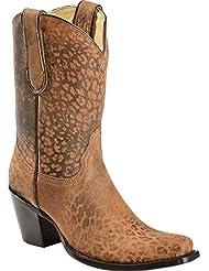 Corral Womens Cheetah Print Short Top Fashion Boots