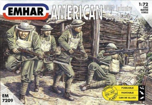 'emhar em7209–Figurine–1/72WWI Us infanterie de Dough Boys américain