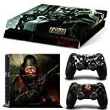 Skin Sticker Cover Set for Sony PS4 Playstation 4 Console Controller Fallout