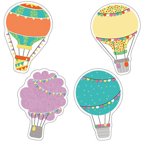 Up and Away Hot Air Balloons Cut-Outs (Bright Bulletin Boards Cd)