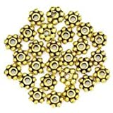 Change Lots 200pcs Tibetan Daisy Spacer Metal Beads 4mm