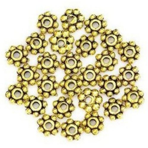 Change Lots 200pcs Tibetan Daisy Spacer Metal Beads 4mm