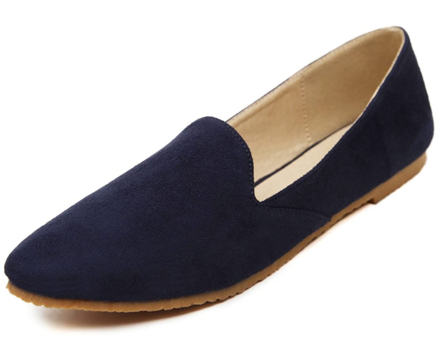 Aisun Women's Simple Comfy Low Cut Flat Loafers