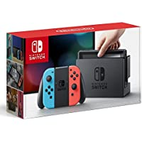 Nintendo Switch 32GB Hybrid Gaming Console with Neon Blue and Neon Red Joy-Con
