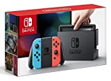 Image of Nintendo Switch with Neon Blue and Neon Red Joy-Con