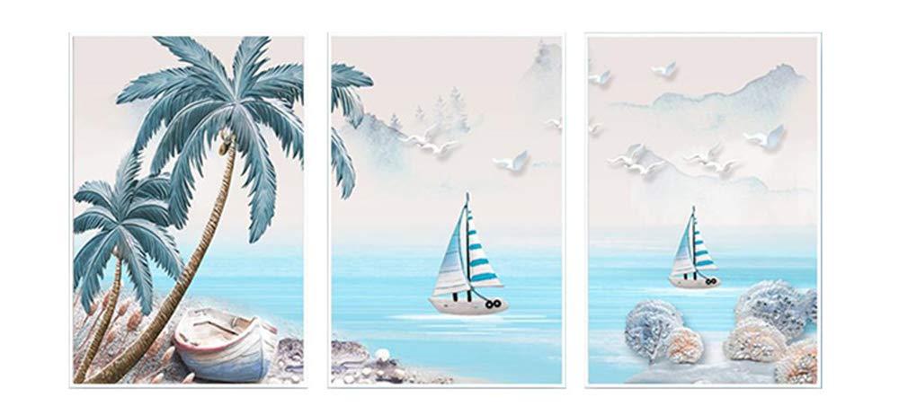 YUKANGI Simple 5D Painting Full of Diamonds Simple Cross Stitch Landscape Living Room Triptych Diamond Modern Bedroom Landscape 240X11Cm