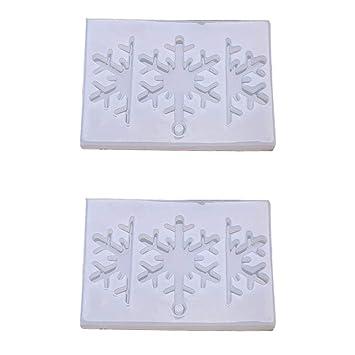 ... de los Granos de Cristal moldes de Navidad Claro epoxi Resina de Silicona Molde líquido DIY fabricación de Joyas Herramienta Artesanal: Amazon.es: Hogar