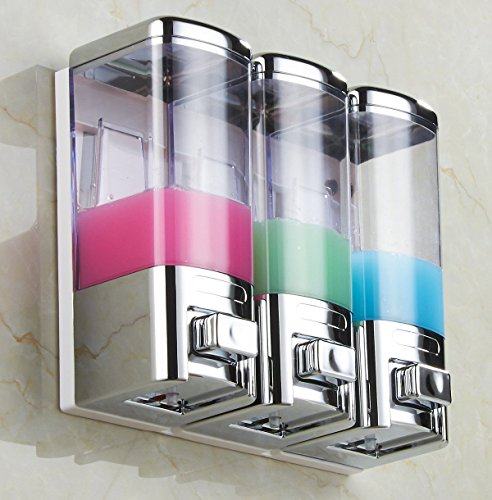Attractive Design! Chrome 3 Wall Mount Shower Bath Liquid...