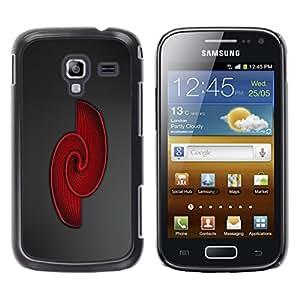 TopCaseStore / la caja del caucho duro de la cubierta de protección de la piel - Red Swirls - Samsung Galaxy Ace 2 I8160 Ace II X S7560M