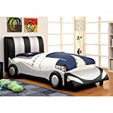 Furniture of America Speedster Leatherette Racecar Bed