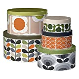 Orla Kiely OK298 Cake Tins-Assorted Prints-Set of 5 Storage