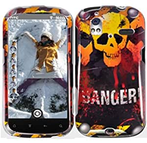 Red Yellow Danger Hard Cover Case for HTC Amaze 4G