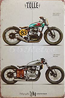 The yamaha xs650 engine including the electrical system hans two radical yamaha xs650 custom motorcycle metal tin sign wall decorative sign size fandeluxe Gallery