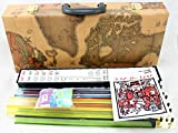 New MTN-G American Mahjong Full 166 Set Old World Map Case Western Mah Jongg Tiles Pushers