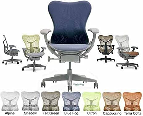 deluxe mirra herman miller office desk chair highly adjustable with forward tilt seat angle and latitude