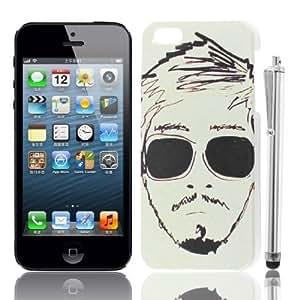 Hombre Gafas Prints IMD caso trasero Guardia w pluma de la aguja para el iPhone 5