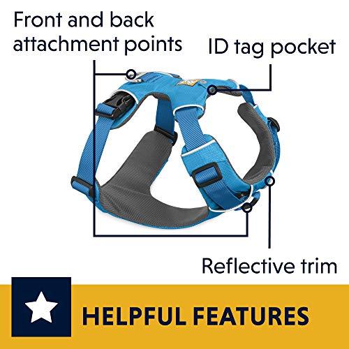 RUFFWEAR - Front Range Harness, Blue Dusk (2017), Medium