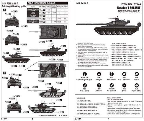 Trumpeter 757144/1//72/T de 80B MBT Maqueta de