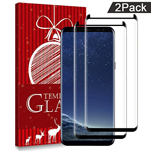 Samsung Galaxy S8 Screen Protector,CBoner Tempered Glass,9H Hardness [Case Friendly] [Anti-Scratch][Anti-Fingerprint][Bubble Free] for Samsung Galaxy S8 (2 Packs)