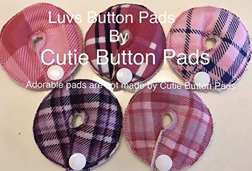 Cutie Button Pads G/j Tube Pad 5 Pack (plaids) (Plaid girls)