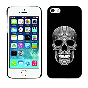 Be-Star Unique Pattern Hard Protective Back Case Cover Shell Skin For Apple iPhone 5 / iPhone 5S ( Music Skull Death Metal Dark Art Black )