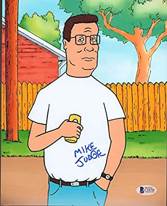 "MIKE JUDGE Signed Autographed ""KING OF THE HILL"" 8x10 Photo BECKETT BAS #C34785"