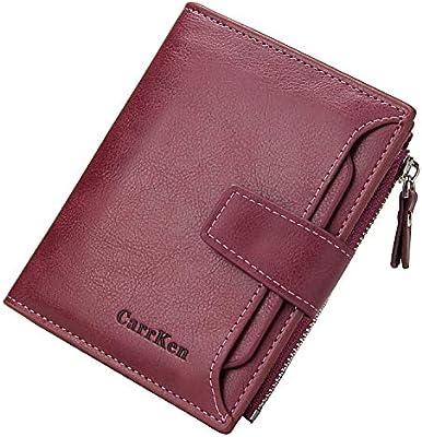 01314255508a GEEAD Small Wallets for Women Bifold Slim Coin Purse Zipper ID Card ...