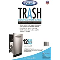BestAir WMCK1335012-6, 12 Trash Compactor Bags, 16 x 9 x 17, 6 pack (72 bags)