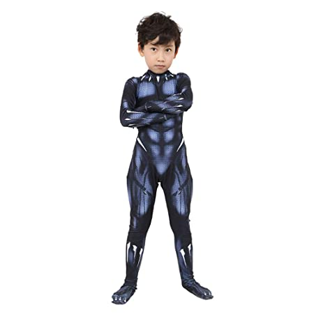 DFRTYE Disfraz Infantil De Avengers Black Panther, Carnaval ...