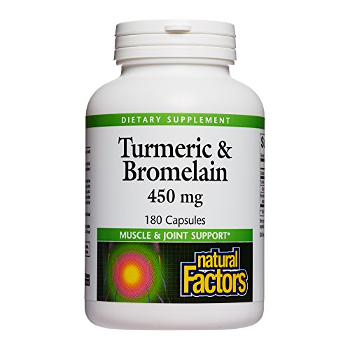 Natural Factors - Turmeric & Bromelain 450mg, Superior Standardized Extracts, 180 Capsules by Natural Factors (Image #4)