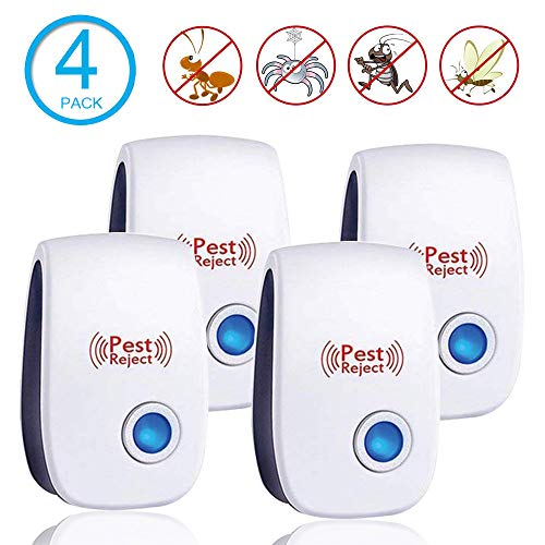 Ultrasonic Pest Repeller Plug in Pest Control - Electric Mouse Repellent Repellent for Mosquito, Mice, Rat, Roach, Spider, Flea, Ant, Fly, Bed Bugs, Cockroach - No Traps Poison & Sprayers