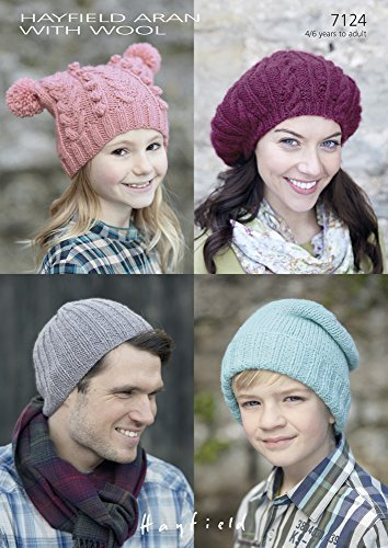 Amazon Hayfield Aran With Wool T Bay Ribby Slouchy Hats And