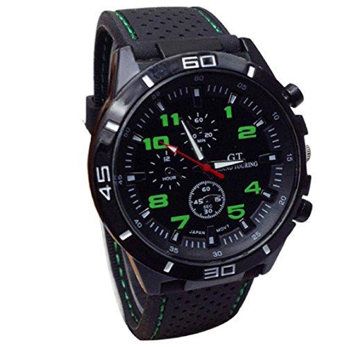 Vovotrade✿✿2016 Quarz-Uhr Männer Military-Silikon-Uhren(Grün)