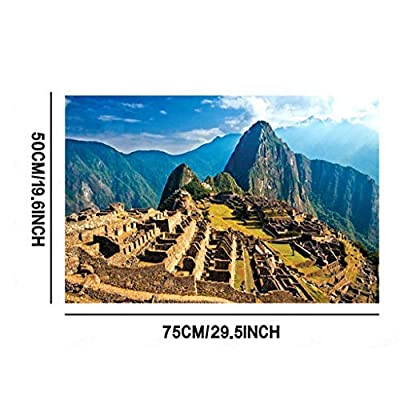 HSada Adult Puzzle - 1000 Piece Jigsaw Puzzle for Adults and Kids – Every Piece is Unique, Pieces Fit Together Perfectly (Machu Picchu): Toys & Games