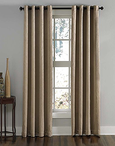 Curtainworks Lenox Grommet Curtain Panel, 50 by 84