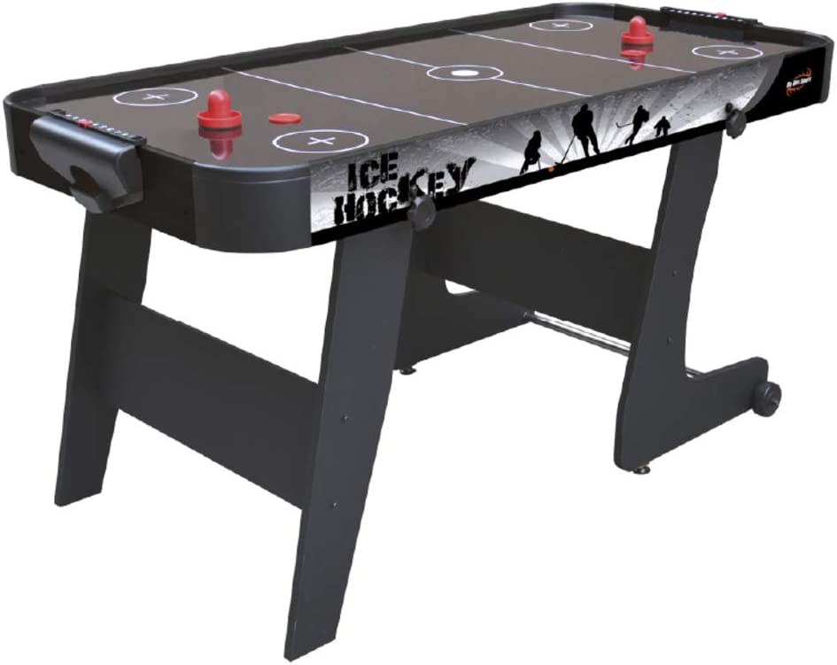 Devessport Mesa de Airhockey Plegable Black City de 152x76x78 cm ...