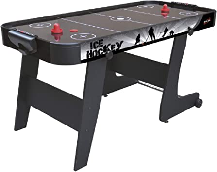 Devessport Mesa de Airhockey Plegable Black City de 152x76x78 cm
