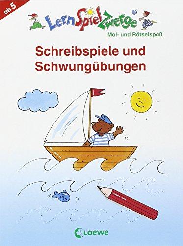LernSpielZwerge Übungsblock: Schreibspiele und Schwungübungen für die Vorschule